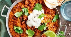 Around the world and on the table in 40 minutes; this Indian lamb dhal has 5 serves of veggies and is loaded in fibre. Light on budget, big on flavour.