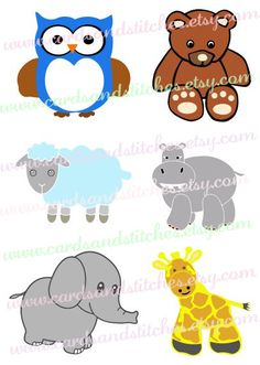 Baby Animals SVG - Baby SVG - Digital Cutting File - Cricut Cut - Silhouette SVG - Vector File - Instant Download - Svg, Dxf, Jpg, Eps, Png by cardsandstitches on Etsy