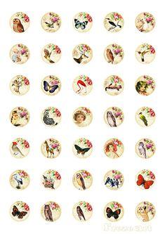 Collage círculos de 1 pulgada hoja imprimible por FrezeArt