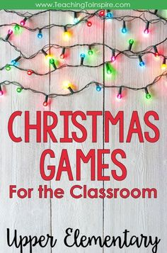 Fourth and fifth graders are definitely not to young to enjoy games. This post shares some of my favorite Christmas games for the classroom. School Christmas Party, Christmas Games For Kids, Christmas Math, Christmas Ideas, Christmas Activities For School, Holiday Classrooms, Christmas Door, Xmas Party, 2nd Grade Christmas Crafts
