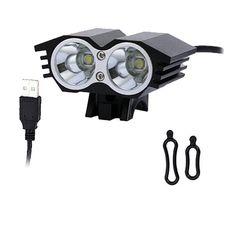 NEWBOLER Satış! 5000 Lümen Su Geçirmez XML U2 LED Bisiklet Işık Bisiklet Işık Lambası 4 Anahtarı Modları ile 75 CM USB Kablosu