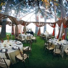 A clear tent gives you the best of both worlds—you're protected while still dining and dancing under the stars!