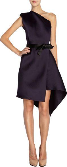 Lanvin Wrap Skirt One-Shoulder Dress at Barneys.com