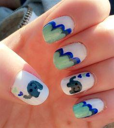 Nail art from the NAILS Magazine Nail Art Gallery, polish, Kawaii Nail Art, Cute Nail Art, Cute Nails, Amazing Nails, Nail Art Galleries, Nails Magazine, Elephants, Art Gallery, Nail Designs