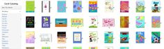 Thousands of Cards to select from. Millions of combinations when you upload your own pictures into your card.