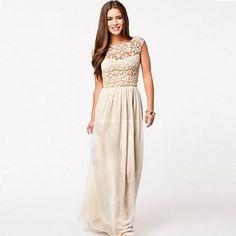 Women's Cutout Lace Chiffon Swing Dress – SEK Kr. 136