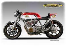"Cafè Racer Concepts - Yamaha XS 850 ""Sears Point"" by Oberdan Bezzi"