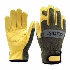 TIG/MIG Argon Welding Heat & Cut Resistant Leather Lasmid Work Gloves M-XL size