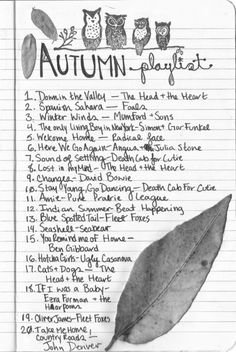 I love this playlist! Plus the fact that The Head and the Heart is on it, and I have many of these songs :) making this playlist on itunes tonight! Fall Playlist, Song Playlist, Halloween Playlist, Party Playlist, Playlists, Herbst Bucket List, John Lenon, Julia Stone, Halloween Illustration