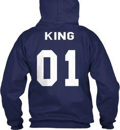 King 01 Navy T-Shirt Back