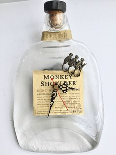Monkey Shoulder blended malt Scotch whisky bottle clock by causewaybay on Etsy Malt Whisky, Scotch Whisky, Monkey, Perfume Bottles, Clock, Shoulder, Shop, Etsy, Watch
