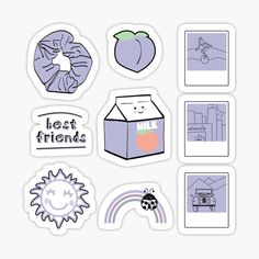 """""""Light Purple Sticker Pack"""" Sticker by The-Goods 