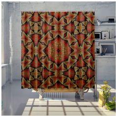 Shower Curtain Bathroom Curtains, Samba, Sunday, Shower, Retro, Prints, Rain Shower Heads, Domingo, Showers