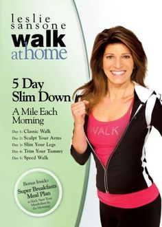 Leslie Sansone: Walk at Home - 5 Day Slim Down - A Mile Each Morning.Definitely one of my favorite Leslie Sansone w/o. Cross Training, Walking Training, Walking Exercise, Lose 5 Pounds, Losing 10 Pounds, Losing Weight, Leslie Walk, Hiit, Nike Dri Fit