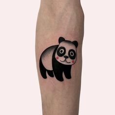 101 Amazing Panda Tattoo Ideas You Need To See!   Outsons   Men's Fashion Tips And Style Guide For 2020 Black Ink Tattoos, Small Tattoos, Bear Tattoo Meaning, Panda Bear Tattoos, Sleeping Panda, Traditional Tattoo Design, Gaming Tattoo, Cover Up Tattoos, Cute Panda