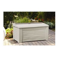 Garden Storage Box Outdoor Container Patio Porch 127 Gallon Resin All Weather #GardenSorages