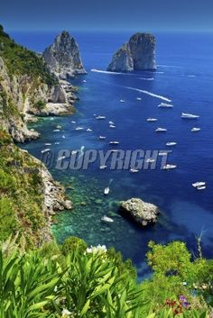The view from Giardini di Augusto, Capri