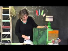 Creating a Warehouse look with Chalk Paint® and Black Wax - YouTube