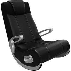 Video Gaming Chair Rocker 2.1 Wireless Sound Tv Cinema Home Theatre Relax Black  #SmartFurniture