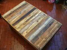 """Large Rustic Reclaimed Wood Coffee Table Dining Table or Desk 48"""" x 30"""" x 17"""" high Use Outdoors or Indoors. $340.00, via Etsy."""