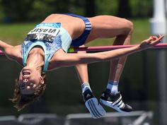 Blanka Vlasic of Croatia takes a jump in the women's high jump during the Adidas Grand Prix track and field meet in New York.  Don Emmert, AFP/Getty Images