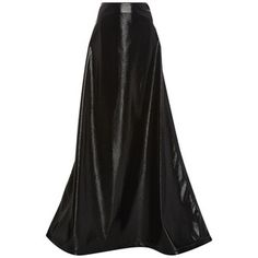 Rosie Assoulin     Crater Faux Leather Maxi Skirt