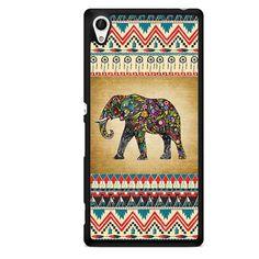 Aztec Elephant Vintage Background TATUM-1258 Sony Phonecase Cover For Xperia Z1, Xperia Z2, Xperia Z3, Xperia Z4, Xperia Z5