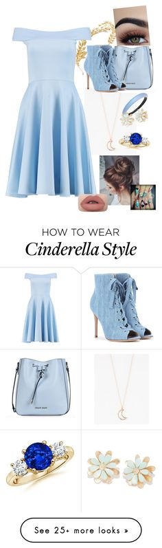 """""""Cinderella"""" by candyforall221 on Polyvore featuring Avigail Adam, Full Tilt, Boohoo, Armani Jeans, Gianvito Rossi, Alexis Bittar and Disney"""
