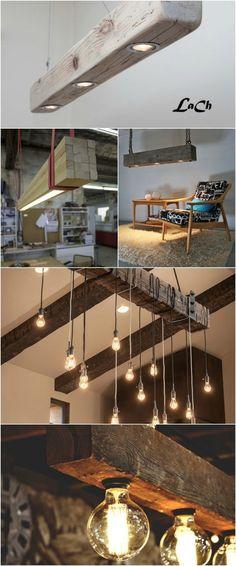 Rustic Lighting Fixtures Diy Wood Beams 66 Ideas For 2019 Rustic Chandelier, Rustic Lamps, Wood Lamps, Rustic Lighting, Chandelier Ideas, Kitchen Chandelier, Farmhouse Chandelier, Lighting Ideas, Pendant Chandelier