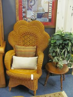 Wicker Fan Chair $119.00. - Consign It! Consignment Furniture