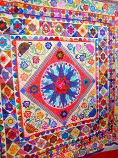 Kaffe Fassett paper pieced quilts - Google Search