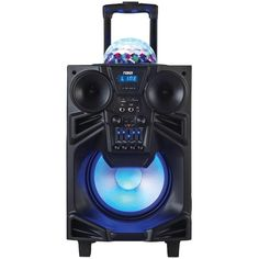 "Naxa 10"" Portable Dj And Pa Speaker With Bluetooth & Disco Dome Light"