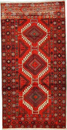 5' 2 x 9' 11 Red Shiraz Persian Rugs