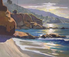 Laguna Morning Glow by Mark Fehlman Oil ~ 20 x 24