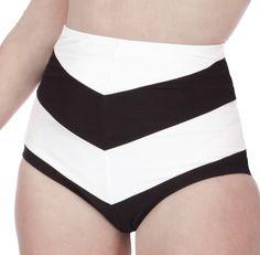 Amelia High Waisted Chevron Stripe Bikini Bottom! LOVE THE CHEVRON PATTERN AND LOVE HIGH WAISTED BOTTOMS
