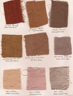 //FOLK FIBERS natural dye swatches  *suddenly loving these colors. Very un-me.