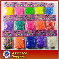 Rubber rainbow loom band (colourful & fluorescence )--For sale usd0.8/bag(100 pcs)