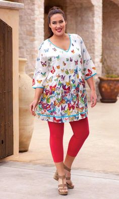 JULIA TUNIC / The Julia Tunic has lovely layers of vibrant color in breezy…