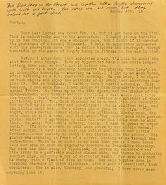 """Jack Kerouac letter of 1940-41 lost for a long time - notice the """"type"""" of his typewriter!"""