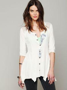 Free People We The Free Hanshaw Henley at Free People Clothing Boutique