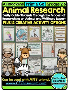 Clutter-Free Classroom: Animal Research Projects, Guided Reports, and Enrichment Activities {Makeover Monday Product Updates}