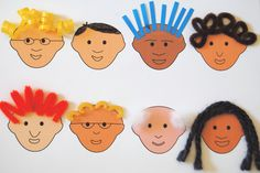 Lesson about hair - Worksheet/craft from ABOUT ME (activity book). This cute worksheet is included in the book! ---preschool kindergarten home school science curriculum, human body, body systems