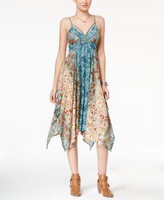American Rag Printed Handkerchief-Hem Dress, Only at Macy's