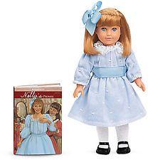 "American Girl Nellie 6"" Mini Doll + Book NEW Box Samantha Historical"