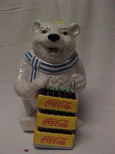 cookie jars collectibles | PAT'S CREATIONS & COLLECTIBLES - COLLECTIBLE COOKIE JARS- Coca Cola Cookie Jar