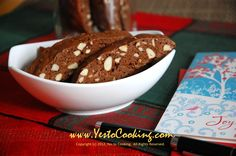 Almond Chocolate Biscotti (use whole-wheat flour and coconut palm sugar).