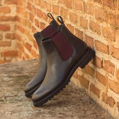 Handcrafted Custom Made Women's Chelsea Boot in Black Painted Full Grain Leather From Robert August. Create your own custom designed shoes. Men S Shoes, Buy Shoes, Me Too Shoes, Dress Shoes, Custom Made Shoes, Custom Design Shoes, Chelsea Boots Outfit, Slip On Boots, Women's Boots