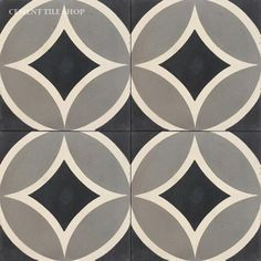 Cement Tile Shop - Handmade Cement Tile | Circle II Black