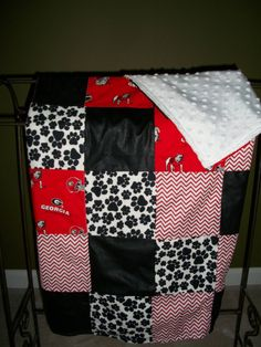 Georgia Bulldog Baby blanket. It's almost football season!