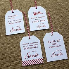 From Santa Free Printable Christmas Gift Tag | Design Corral | Wedding Favors and Accessories